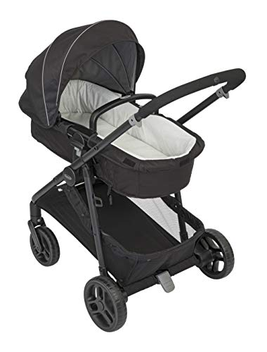 Graco Transform 2-in-1 Pushchair/Stroller (Birth to 4 Years Approx, 0-22 kg), Converts from Pramette to Pushchair, Black Graco Suitable from birth to approx. 4 years (22kg) Convertible pramette to pushchair in a flash. includes a comfy soft new-born liner for the first journey Click connect travel system compatible with graco snug ride/snug essentials i-size infant car seats 10