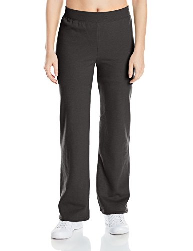 Hanes womens ComfortSoft EcoSmart Women's REGULAR Open Bottom Leg Sweatpants Ebony XX-Large