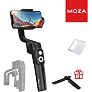 MOZA Mini-S Essential Foldable Gimbal stabilizer for Smartphone Timelapse Object Tracking Zoom Vertigo Inception 3-Axis Video Stabilizer for iPhone Xs/Max/Xr/X/11 Pro Max Samsung Note 9/S9 Huawei