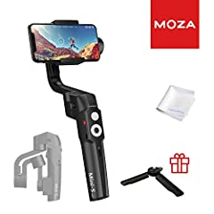📷【EXTREMELY FOLDABLE】 MOZA Mini-s makes it easy to store and carry without taking up valuable space Max Payload 260g,Folded Size 5.12*2.68*7.68inches 📷【MANY FUNCTIONS】 packed into the MOZA Mini-S smartphone gimbal include one-button zoom, focus contr...