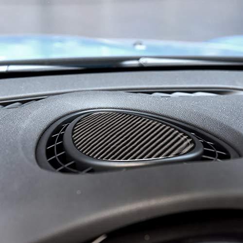 Para BMW Mini Cooper JCW One F56 F55 F54 Fibra de Carbono Real Pegatina Dashboard Marcos Interior Instrumento Trim Accesorios Indicador Clúster Interior (negro)