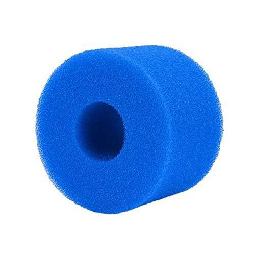 Apricot blossom 10 pièces Filtre en Mousse éponge Fit for Intex Type A réutilisable Lavable Piscine Aquarium Filtre Accessoires (Color : Blue)
