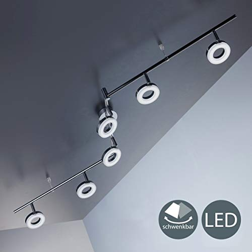 LED Deckenleuchte I dreh- & schwenkbar I Chrom I 6 x 4,5W 330LM LED Platine I IP20 I warmweiß 3000K I Deckenlampe