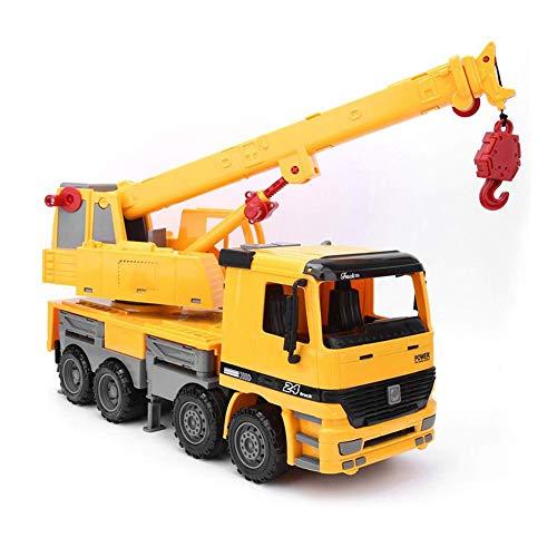 PPITVEQ Camión De Grúa para Niños, Vehículos De Construcción Transporte Camión De Juguete, Piezas De Vehículos De Ingeniería Extraíble, Regalo para Niños Niños Niñas
