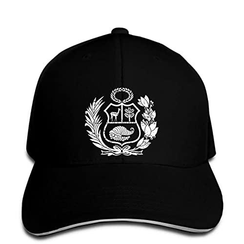 MWLSW Gorra de béisbol Hombres Perú Escudo de Armas Peruano Snapback Hat Pico Regalos Deportivos Aire Libre para Amantes Hip-Hop