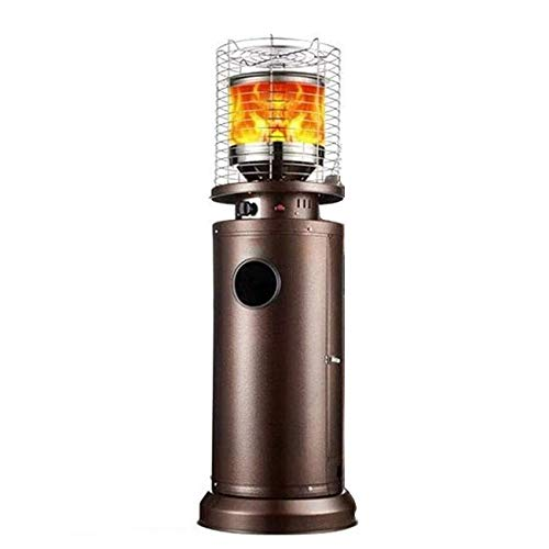 TYX-SS Patio Gas Heater, 12KW Bullet Style Terrace Heater, Liquefied Gas Humidification Heating Stove, Outdoor Space Heaters for Restaurants and Cafes