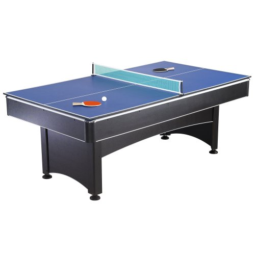 Hathaway Maverick 7-foot Pool and Table Tennis Multi Game with Red Felt and Blue Table Tennis Surface. Includes Cues, Paddles and Balls