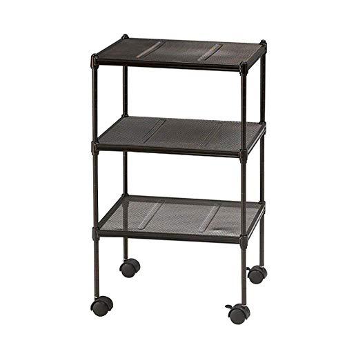 ZGQA-GQA Móvil de almacenamiento rack cart-3 capas estante de cocina herramienta microondas horno de almacenamiento camión estación de trabajo rack hogar conveniencia acabado simple estante de cocina