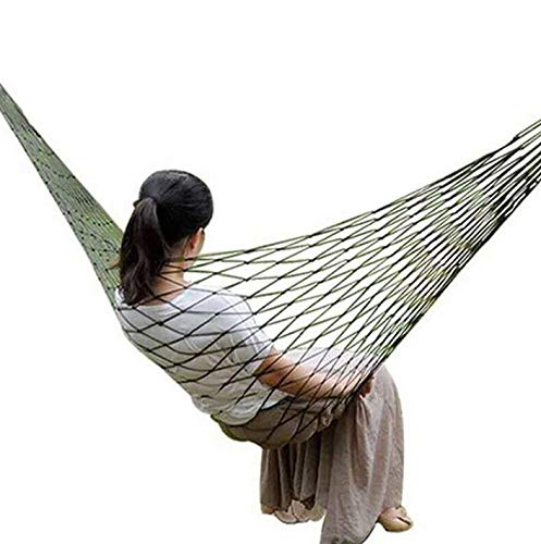 DSTong Outdoor Cotton Hammock,Portable with Carrying Bag for Beach Travel Patio Yard (240 * 80/green)