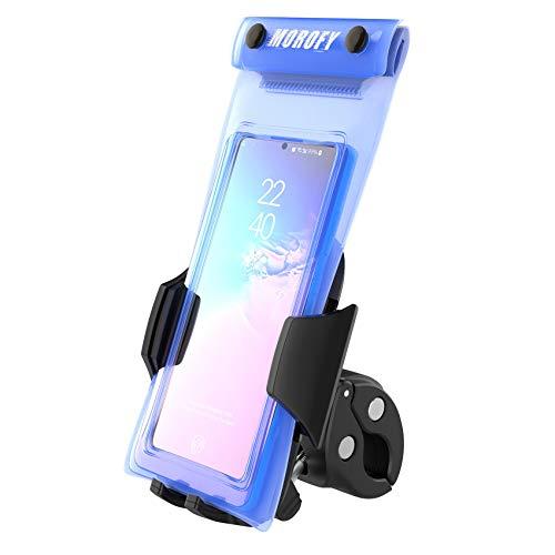 Morofy universele fietshouder met waterdichte tas voor fiets, racefiets, mountainbike, motorfiets - 360° draaibaar - antisliphandgreep, compatibel met 4-7 inch scherm smartphones