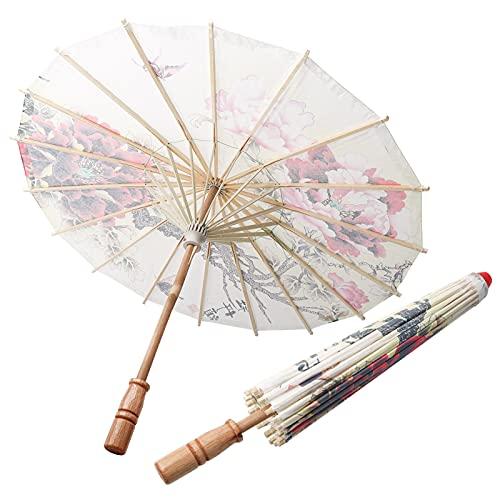 Peint à la main papier huilé parapluie Art décor Vintage parasol pour la photographie Cosplay Costumes danse effectuer mariage Prop(1)