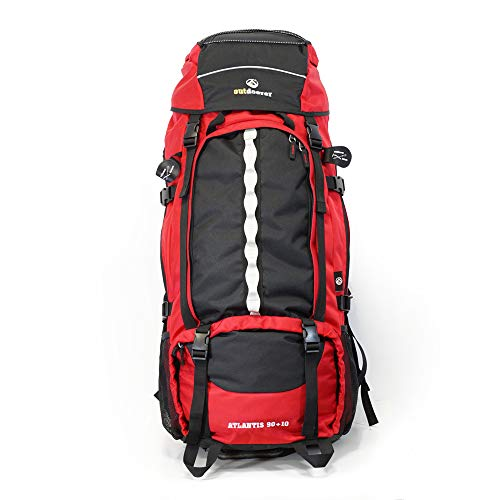 Outdoorer Atlantis Backpack, ergonomic 100 Liter Rucksack, Front Loading, for Backpacking