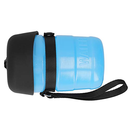 Botella de Agua para Perros Agua para Perros Botella de Agua para Viaje para Perros Tazón de Agua para Perros 520ml Botella de Agua para Perros para Que Todas Las Mascotas(Blue)