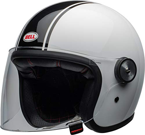 BELL RIOT RAPID HELMET GLOSS WHITE/BLACK L