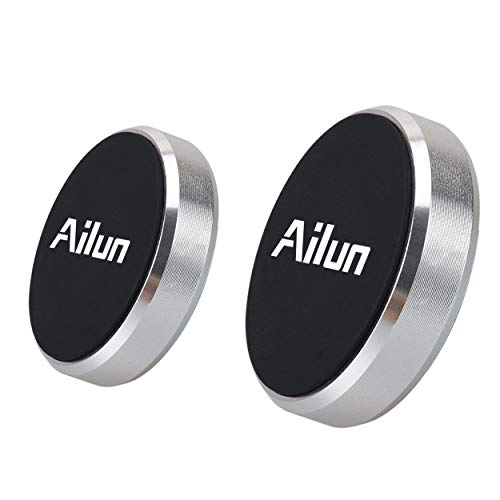 Mini Car Phone Mount Magnet Key Holder by Ailun 2Pack Stick on Dashboard Magnetic Car Mount Holder for iPhone 12 12Pro 12Mini 12Pro Max iPhone 11/11 Pro/11 Pro Max/X Xs XR Xs Max and More Silver