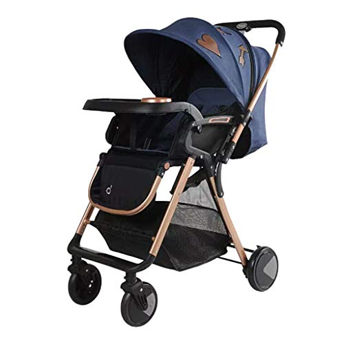 Review MEI Baby Trolley Baby Stroller high Landscape Two-Way Horizontal Stroller Portable Folding Sh...