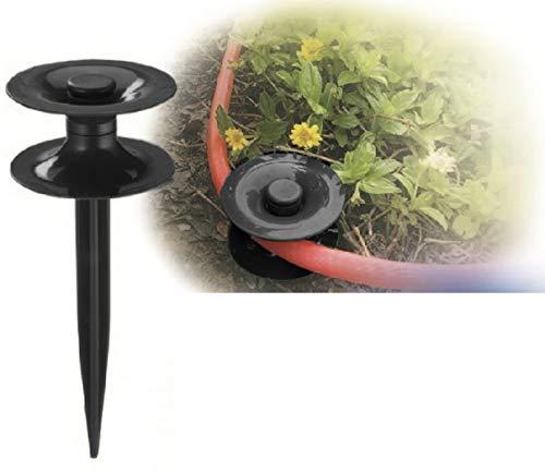 FairFox Schlauchführung I Umweltfreundlich aus 100% Recycel-Kunststoff I Umlenkrolle als Erdanker schützt Beete vor'm Gartenschlauch und hilft ihr Bewässerungssystem zu organisieren [1 Stk.]