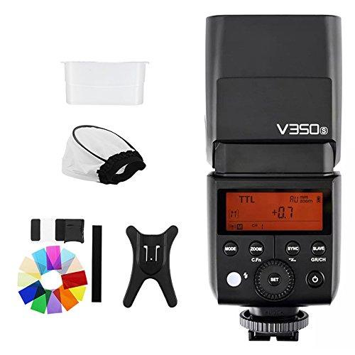 Godox v350s TTL HSS 1/8000s Speedlite flash con integrado, 2000mAh Li-ion Batería para SONY a77, A77II, A7R, A7R ILCE-6000L, RX10