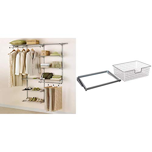 Rubbermaid Shed Shelf, Wire Basket Accessory & 50 Lbs Capacity 34