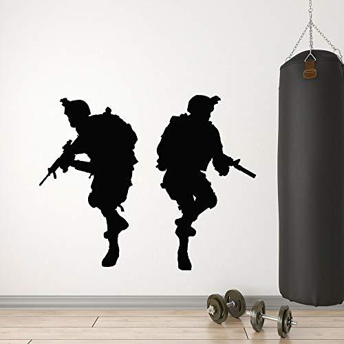 Adesivo per guerriero Boy Adesivo in vinile Adesivo da parete Adesivo per la casa dei bambini67X57 CM