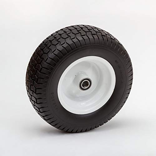 "Lapp wheels 16x6.50-8 Wheel and Tire, Flat Free,1"" Axle Bearing, 4"" Hub Length"