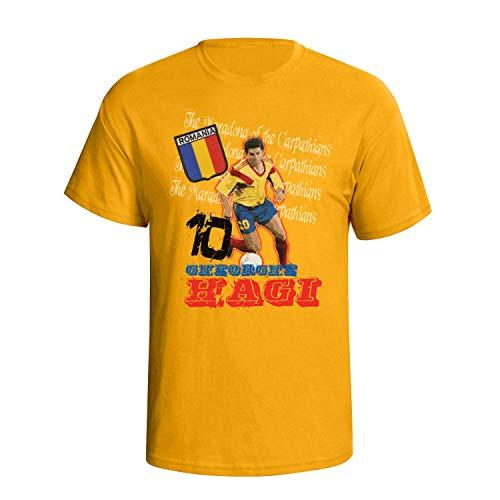 Gheorghe Hagi Graffiti Style Mens Football Herren Fußball T-Shirt