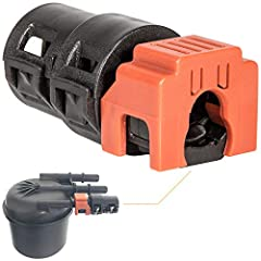 Great Compatibility — Fit for 2017~2020 Ford 6.7L Powerstroke Diesel. This is the exact OEM Quick Disconnect Fitting fit for Ford Fuel Return Line Assembly # HC3Z-9A564-A. Upgrade Design — The fuel return line connector can get damaged or leak after ...