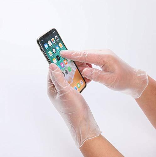 Guantes desechables higiénicos transparentes para pantalla táctil de trabajo, protección del medio ambiente, 100 unidades por caja, L, 999