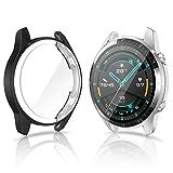 CAVN Protector de Pantalla Compatible con Huawei Watch GT2 46mm, 2 Unidades, TPU Suave Resistente a...