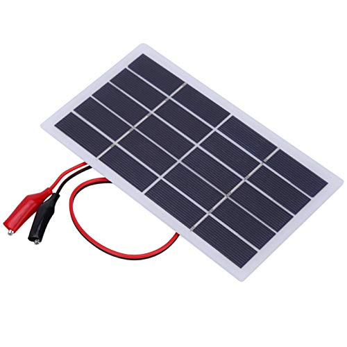 Cargador de energía solar 173x99x2MM para todos los pequeños aparatos eléctricos para acampar al aire libre (2W 5V+Clip)
