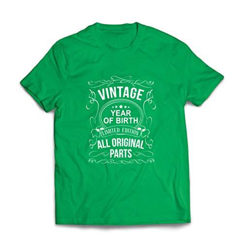 lepni.me Camisetas Hombre Año Personalizado Todas Las Piezas Originales Regalo de cumpleaños Vintage (XX-Large Verde Multicolor)