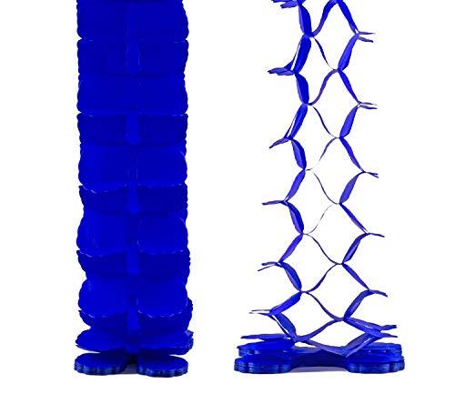Creativery Papier Girlande 6 Meter (blau 352 / königsblau/Royalblau) // Papiergirlande Hängedeko Raumdeko Party Geburtstag Raumdekoration Deko