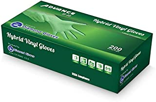 Sponsored Ad - [ 200 Count ] Advance Diamond Hybrid Vinyl Gloves, Size Large