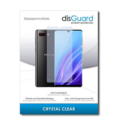 disGuard® Bildschirmschutzfolie [Crystal Clear] kompatibel mit ZTE Nubia Z18 [2 Stück] Kristallklar, Transparent, Unsichtbar, Extrem Kratzfest, Anti-Fingerabdruck - Panzerglas Folie, Schutzfolie