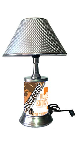 JS Table Lamp with Shade, a Plate Rolled in on The lamp Base, TeVo