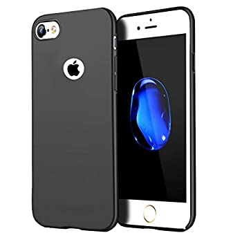 Compatible for iPhone 6 Case/iPhone 6S Case Anti-Fingerprint,Matte Finish Comfortable Silky Smooth Touch Great Grip Feeling Slim Fit Hard Plastic PC Super Thin Mobile Phone Cover Case-Black