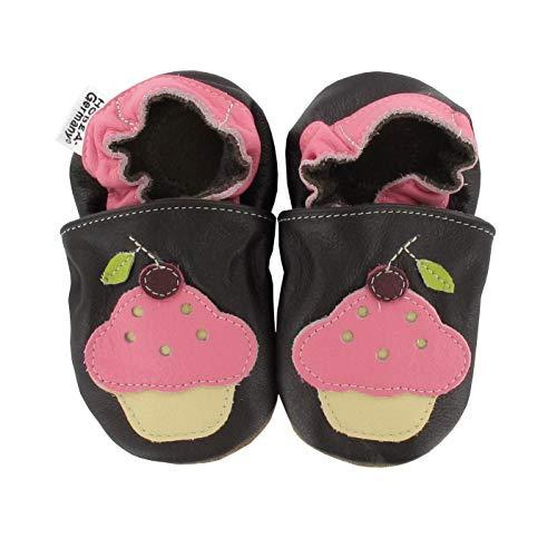 HOBEA-Germany Lauflernschuhe Hausschuhe Kinderschuhe Mädchen, Modell Schuhe:Cup Cake, Schuhgröße:22/23 (18-24 Monate)