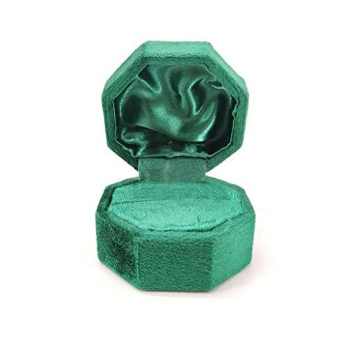 JJZXD Anillo Octagon Antigua Caja de Anillo único Soporte de exhibición con Tapa de Caja del Anillo Soporte for la joyería for la Ceremonia de Boda