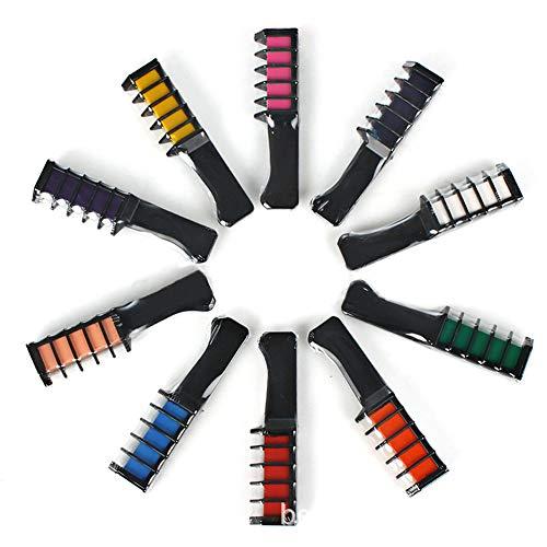 temporaire Cheveux Craie Couleur Peigne Kits de teinture jetable Cosplay Coiffure Cheveux Teinture Pigment Peigne Outil 10 pcs