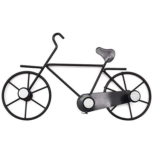 Qixuer 1 Pieza Hierro Bicicleta Ganchos De Abrigo De Colgador De Pared,De Pared Perchero Toalla Gorro De Montaje para Decoración de la Pared Del Hogar(Negro) (Negro)