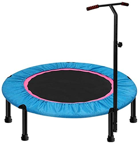 LKFSNGB 40″Exercise Trampoline For Adults Or Kids Mini Fitness Trampoline With Adjustable T-Bar Stability Handle Aerobic Bouncer Trampoline For Gym/Home