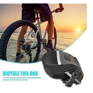 ZOSEN - Bolsa para sillín de bicicleta con kit de herramientas de reparación, impermeable, bolsa de almacenamiento de herramientas con juego de reparación mecánico multifuncional