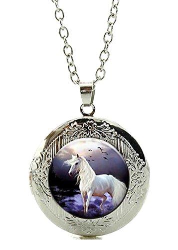 Merchandise for Fans Foto-Medaillon/Amulett für eigenes Foto mit Cabochon 20mm - Motiv: Pferd/Pferde (08)