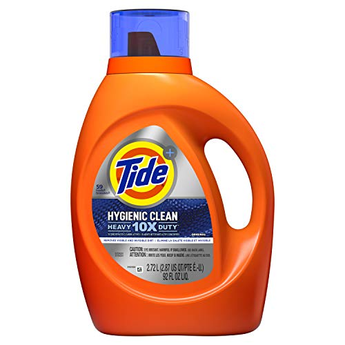 Tide Hygienic Clean Heavy 10x Duty Liquid Laundry Detergent, Original Scent, He Compatible, 59 Loads, 92 Fl Oz