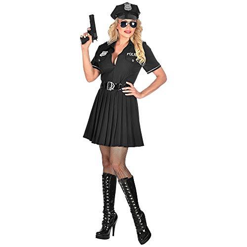 WIDMANN 05083 Disfraz de policía, para mujer, negro, L , color/modelo surtido