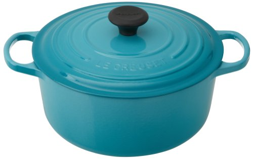 Le Creuset Signature Enameled Cast-Iron 5-1/2-Quart Round French (Dutch) Oven, Caribbean