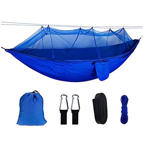 Ocuhiger Hamaca De Viaje Ultraligera Cama Portátil Camping Acampar Jardín Al Aire Libre Senderismo Playa Contraste De Color para Dos Personas con Mosquitera 260x140cm