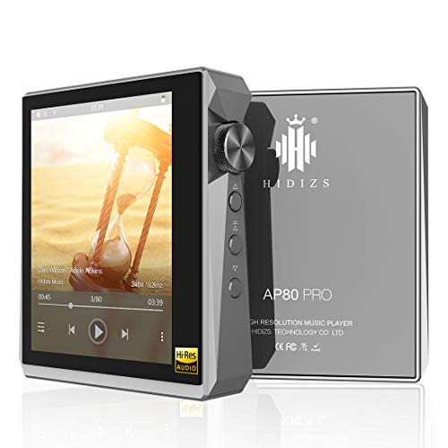 HIDIZS AP80 PRO Hi-Res Bluetooth MP3 Player, Portable High Resolution Digital Audio Player with LDAC/aptX/FLAC/DSD, Lossless Music Player with Full Touch Screen (Gray)