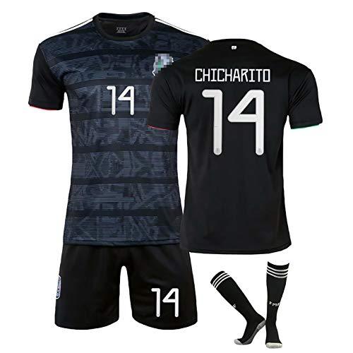 BCVDF Kits de Jersey de fútbol Personalizados Sudaderas de fútbol Camiseta de visitante Mexicana Shorts Traje Hombre Ms Adultos Niños Uniforme,Personalizable 28 Black