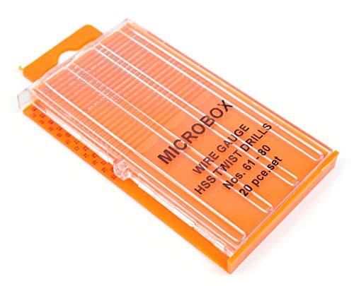 Gaugemaster gm-gm649 Micro Wire gauge HSS-spiraalboor Bits Slide Top Box
